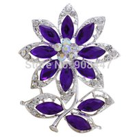 Wholesale 1PCS BR011 Colorful flower and branch brooches pin for women