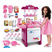 Wholesale Kids simulation kitchen toys Children play toys baby kitchen toys set with light sound