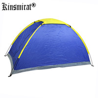 Wholesale New Single Layer Tents Rainproof For Camping Hiking Fishing Picnic Beach Travel Kit Camping UV Resistant Blue Green Color