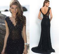 amazing apples - Amazing Full Lace Evening Dresses Sheath Beaded Crystals Black Girl Prom Plus Size Illusion Women Dresses Custom Made Party Dresses