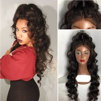 afro wig black - Natural Hairline Full Lace Human Hair Wigs For Black Women A Unprocessed Lace Frontal Wig Brazilian Body Wave Wig With Baby Hair