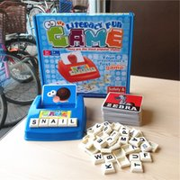 abc building - Kids board games learning english alphabetical ABC letters educational literacy Card desk Game language word Puzzle Children toy