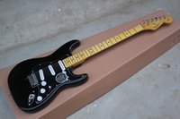 Wholesale Factory HOT FENDER Custom Body Stratocaster F ST SSS Black Electric Guitar in stock