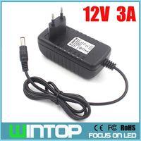 Wholesale NEW AC100 V to DC12V A Adapter Power Supply Converter for SMD3528 LED Strip Lights CCTV Cameras EU US UK AU Plug
