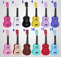 Wholesale Quality inch colorful basswood Ukulele for novice Guitar learner low price new year gift children christmas gifts colors ZJ