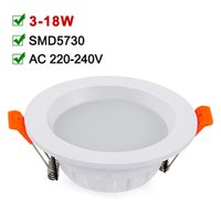 Wholesale SMD5730 LED Downlight AC85 V Round LED Spot Light W Recessed Ceiling Light For Home Lighting Decoration