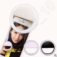 Wholesale Portable Flash Luxury Mini Selfie Flash Light Portable Led Round Ring Flash for iPhone Selfie Ring Light CCA4974