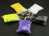 Cheap High Quality 23 Colors Loom Bands Looms Colar Rubber Bands Loom Bracelets (6000 bands + 240 clips) 10packs lot