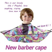 Wholesale Free EMS Children Kids Hair Cutting Cape Gown Salon Hairdresser Barber Apron Cartoon Barber Cape child Waterproof Hairdressing Bib ZJ16 C01