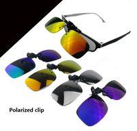 Wholesale Polarized glasses clip Polarizer sunglasses sunglasses hanging mirror clip with mirrors glasses on hot selling from china