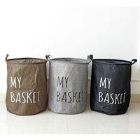 Wholesale Zakka Style Cotton and Linen Household Storage Box Laundry Classification Waterproof Basket Organizantion With Handle Large Size
