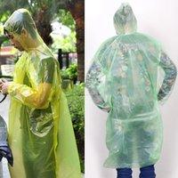 Wholesale 1Pcs Disposable Raincoat Adult Emergency Waterproof Hood Poncho Travel Camping Must Rain Coat Unisex