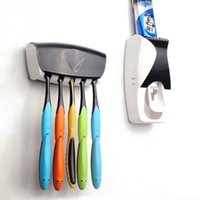 Wholesale Auto Automatic Toothpaste Squeezer Dispenser Toothbrush Holder Set Wall Mount