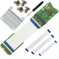 Wholesale SMAKN Mini PCI E x mSATA Flexible Extender cable With SIM card Slot