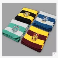 Wholesale Harry Potter Scarf Gryffindor School Unisex Knitted Striped Scarf Gryffindor Scarve Harry Potter Hufflepuff Scarf Cosplay in stock