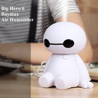 Wholesale USB Car Charge Baymax Air Humidifier Essential Oil Diffuser V Office Steam Humidifier Baby Living Room Air Purifier