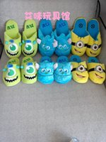 Wholesale Monster University The whole network big small blue wool big green plush slippers cosplay shoes