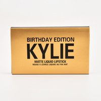 beauty direct - Kylie Jenner Birthday Edition Lipgloss Colors Brand Beauty Liquid Matte Lipsticks Fanmous Fashion Women Hot Cosmetics Factory Direct Sale