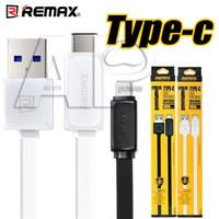 al por mayor cable usb de datos original-Tipo c Cable de datos Micro USB de tipo C de Remax Cable de datos de carga rápida OnePlus Two USB 3.0 2.1A Sync Cable de datos de carga rápida No original