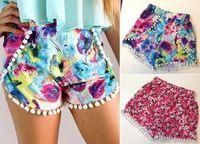Wholesale 2016052913 Fashion New Women s High Waist Short Tassel Print Floral Beach Casual Mini Shorts Hotsale