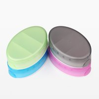 Cheap 3 Grid pill box Best Food Grade PP Green Grey Blue Pink 3 grid pp medicine case