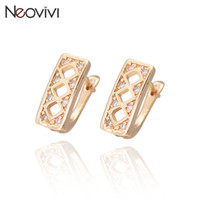 best gold hoops - Fashion Hie Hoop Earrings For Women Top Quality Gold Plated Filled Hollow Geometric Design Traingle Crystal Earring Best Gift