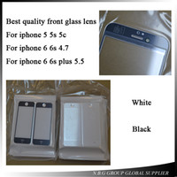 Wholesale 100pcs by DHL Original Black White NEW Replacement LCD Front Touch Screen Glass Outer Lens For iphone s