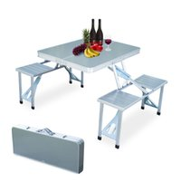 Wholesale New Outdoor Garden Aluminum Portable Folding Camping Picnic Table With Seats