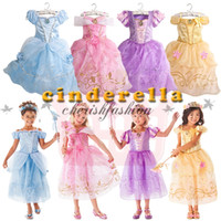 Wholesale Kids baby sleeping beauty Rapunzel snow white Cinderella belle frozen princess children party costume dress girls tutu ball gown Z571 B