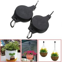 Wholesale New Fashion Creative Set Black Easy Reach Flowerpot Hanger Hooks Plant Pulley For Garden Supplies Tools F489