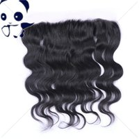 Wholesale Full Lace Band Frontal Brazilian Human Hair Body Wave Wavy Natural Hairline Lace Frontal Closure With Baby Hair
