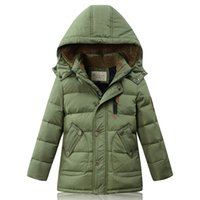 Wholesale Real brand White Duck Down Coat For Children Ultra Ligth long Warm Down Jacket For Kids