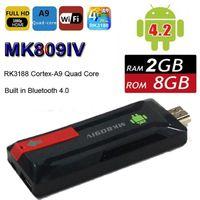 android pocket tv - MK809IV Android TV Box Pocket Mini PC RK3128 Quad Core GB GB WIFI Bluetooth P HDMI XBMC IPTV Smart Dongle MK809 IV DHL