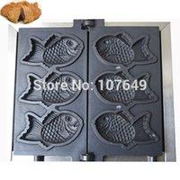 Wholesale to USA Canada Japan Mexico Commercial Use Electric v Fish Waffle Taiyaki Baker Maker Iron Machine