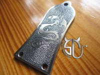 Wholesale dragon pattern Aluminum alloy handmade truss rod cover for sg L P guitars can be customized