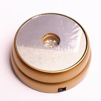 adapter led displays - New Rond LED White Lights light up Display Stand Base Goldeb For D Glass Crystals Ball paperweight cocktail champagne DC Adapter
