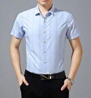 Cheap New arrival 2016 summer shirt men short sleeve mens clothing middle-aged business mens silk shirt BLHF B2CS8013