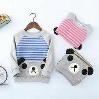 Wholesale Autumn winter new cotton padded child sweater Cute Panda style kids good wear and good gifts