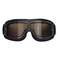 2016 lente caliente del color de Eyewear 4 del casco del jet de las gafas de la motocicleta del estilo de Harley de la vendimia del marco de la vendimia del negro caliente de la motocicleta