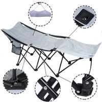 Wholesale Portable Folding Camping Adventure Camp Bed Durable Hammock Sleeping Cot Steel