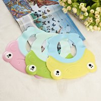 Wholesale 2016 Hot Cute baby s Colorful Frog Shape EVE Bath Care Prduct Baby s Bath Cap Fashion Style