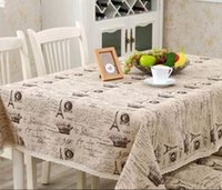 Wholesale New arrival Europe style a small crown linen cotton table cloth Universal fabric Christmas rectangular tablecloth hot sale