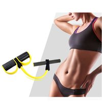 abdominal bodybuilding - Abdominal Tummy Trainer Sit ups Fitness Yoga Resistance Bands Foot Rally Rope Pedal Bodybuilding Expander Elastic Pull Rope