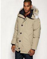big mens winter jackets - Mens Goose Down Jacket Warm Winter CHATEAU PARKA Big Removable Raccoon fur