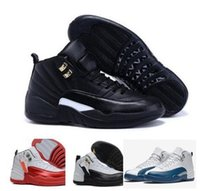 Mid Cut Men Spring and Fall air retro 12 man basketball shoes taxi ovo white wolf grey cherry Flu game French Blue The master Barons sneakers