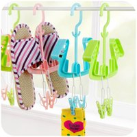 Wholesale clothes rack clips hangers for clothes clothes rackclothes rack clips shoes stand drying tool clips Korea creative multifunctional hanger r