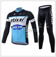 achat en gros de kit de cyclisme sur quick step-Hot 2015 rapide étape Bib Cyclisme Vêtements Kits manches longues Maillot cyclisme Cyclisme Aucun Bib pantalons Automne vélos à long cyclisme Jersey