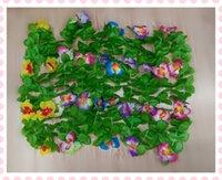 artifical garland - 30pcs Wedding decoration Hawaii butterfyly Flowers lei Garlands Hawaiian Beach Luau Flower Garland Lei artifical flowers
