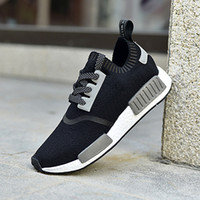 Wholesale Men NMD Runner Primeknit High Quality Running Shoes with Box NMD Boost Basketball Shoes Breathable Sneaker Outdoor Shoes for Women