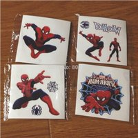 adhesive tattoos - psc MIXED Children colorful design Spider man adhesive Cartoon arm Tattoos Stickers waterproof for kids